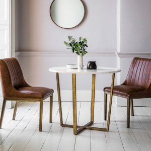Cleo Marble Round Dining Table